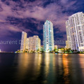 Miami - Brickell by night - 2014 © All rights reserved by Laurent Dubois