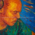 When Charles is burning - peinture à l'huile / oil painting (31x46 cm) - © All rights reserved by Laurent Dubois
